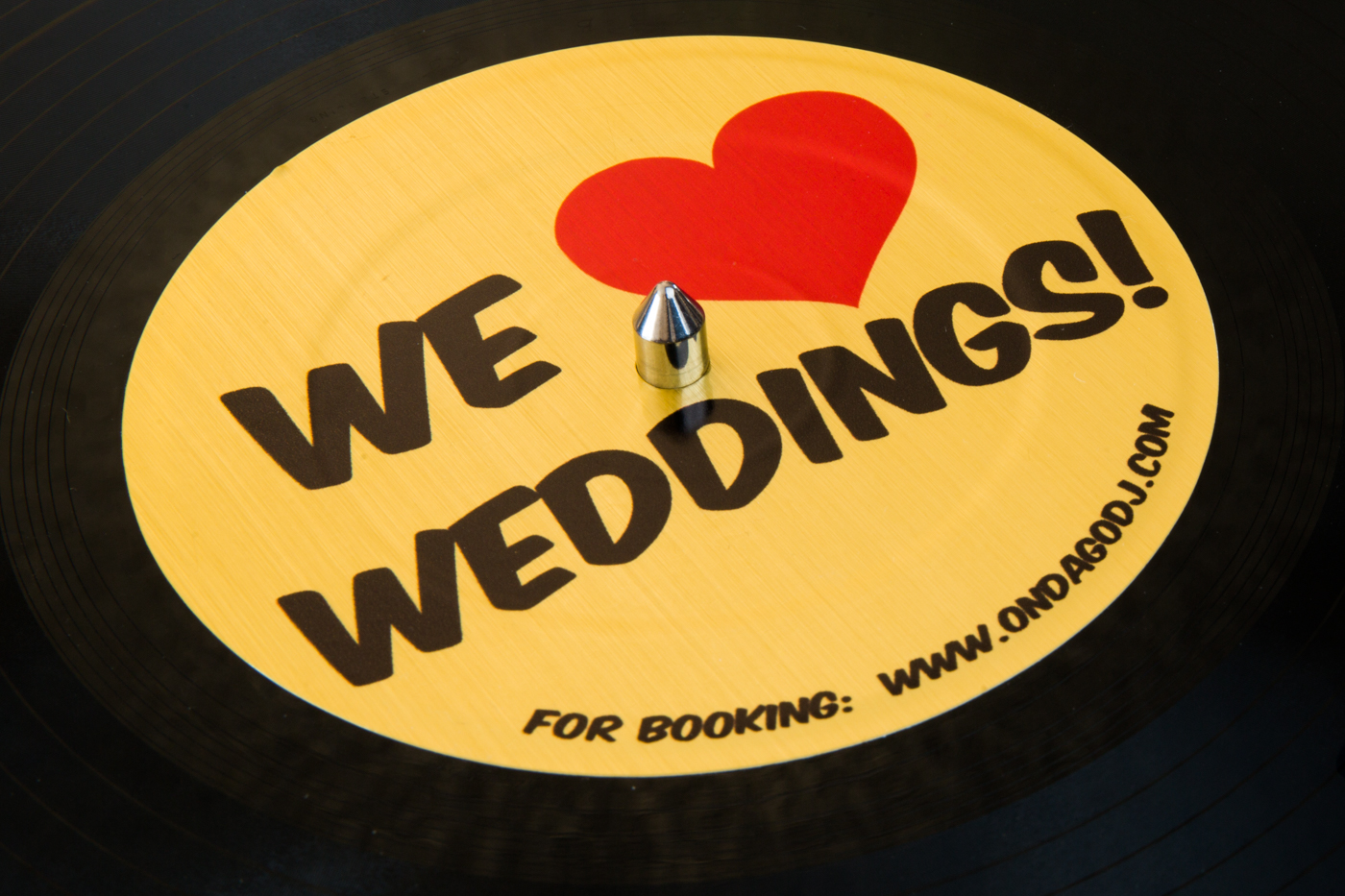 Wedding vinyl record - Ondago DJ Entertainment